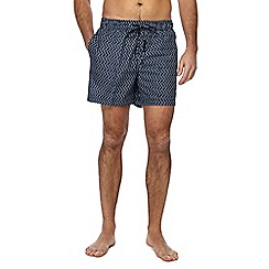 Tommy Hilfiger - Navy geometric print swim shorts