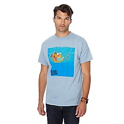 Weird Fish - Big and tall light blue piranha print t-shirt