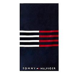 Tommy Hilfiger - Navy stripe beach towel