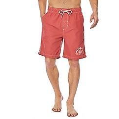 Weird Fish - Red 'Soundwave' swim shorts