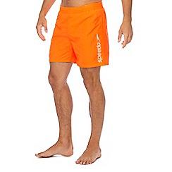 Speedo - Orange logo print swim shorts