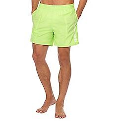 Speedo - Green logo print swim shorts