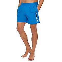 Speedo - Blue logo print swim shorts
