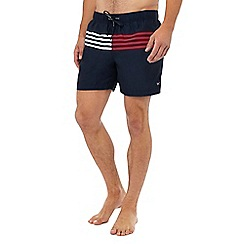 Tommy Hilfiger - Navy striped swim shorts