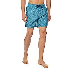 Red Herring - Blue banana leaf print swim shorts