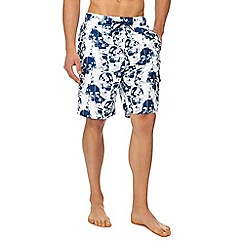Red Herring - White skull print swim shorts