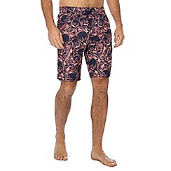 Red Herring - Pink floral skull print swim shorts