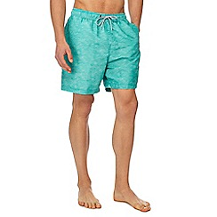 Mantaray - Green wave print swim shorts