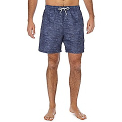 Mantaray - Navy wave print swim shorts