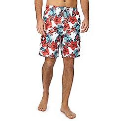 Mantaray - Multi-coloured floral swim shorts
