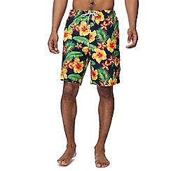Mantaray - Multi-coloured floral swim shorts
