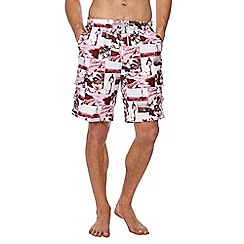 Mantaray - Pink photographic print swim shorts