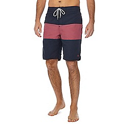 Mantaray - Navy colour block swim shorts