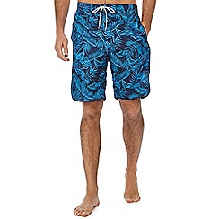 Mantaray - Navy hibiscus print swim shorts