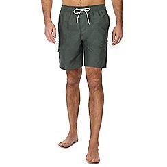 Red Herring - Khaki cargo swim shorts