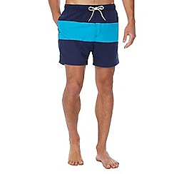 Red Herring - Navy striped swim shorts