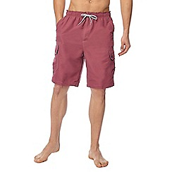 Mantaray - Big and tall rose cargo swim shorts
