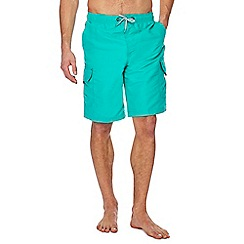 Mantaray - Turquoise cargo swim shorts