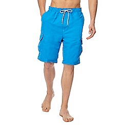 Mantaray - Bright blue cargo swim shorts