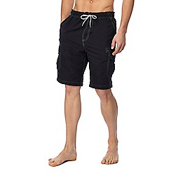 Mantaray - Big and tall black cargo swim shorts