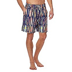 Mantaray - Navy surfboard print swim shorts