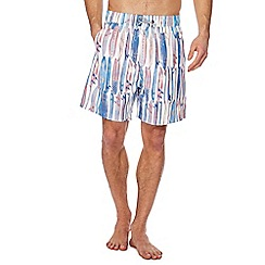 Mantaray - White surfboard print swim shorts
