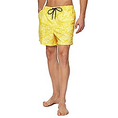 Maine New England - Yellow floral print swim shorts
