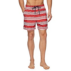 Maine New England - Red and white striped swim shorts