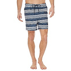 Maine New England - Navy and white striped swim shorts
