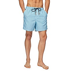 Maine New England - Turquoise striped swim shorts