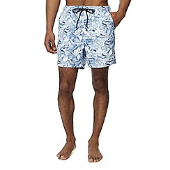 Maine New England - Blue shell print swim shorts