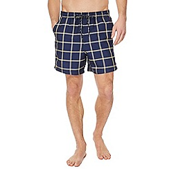Maine New England - Navy checked swim shorts