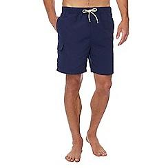Red Herring - Navy cargo swim shorts