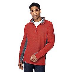 Weird Fish - Red zip funnel neck sweatshirt