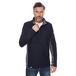 Weird Fish - Navy zip funnel neck sweatshirt
