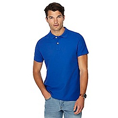 Maine New England - Big and tall bright blue beach polo shirt
