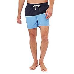 Tommy Hilfiger - Blue colour block swim shorts