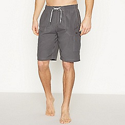 Mantaray - Dark Grey Embroidered Logo Shorts