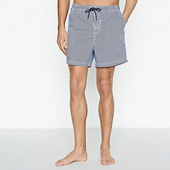 Maine New England - Big and tall navy striped swim shorts