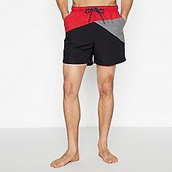 Maine New England - Black Asymmetric Cut Swim Shorts