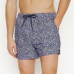 Red Herring - Big and Tall Navy Nautical Swim Shorts