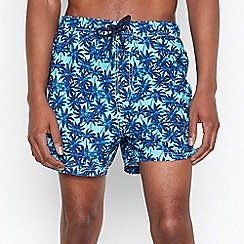 Red Herring - Blue Palm Print Swim Shorts