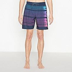 Nike - Navy Stripe Swim Shorts