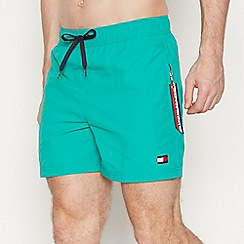 Tommy Hilfiger - Turquoise Slim Fit Swim Shorts