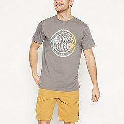 Weird Fish - Grey Logo Print T-Shirt