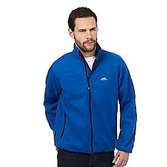 Trespass - Blue logo embroidered fleece jumper