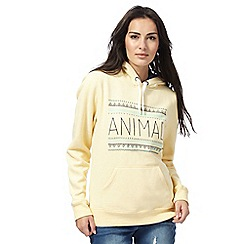 Animal - Yellow logo print hoodie