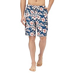 Mantaray - Pink floral print swim shorts