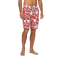 Mantaray - Big and tall pink floral print swim shorts
