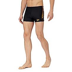 Speedo - Black logo print swim shorts